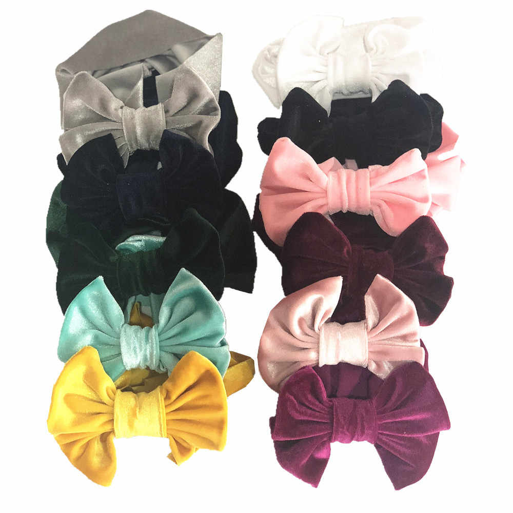เด็กทารก Big Bowknot Headband Headbands โบว์หัวอุปกรณ์เสริมผมเด็ก Turbans Accessoire เด็ก Headdress