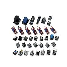 цена на Official iSmaring Free Shippiing 37 in 1 Sensor Kit For Arduino Starters keyes brand in stock good quality low price 37 IN 1 SEN