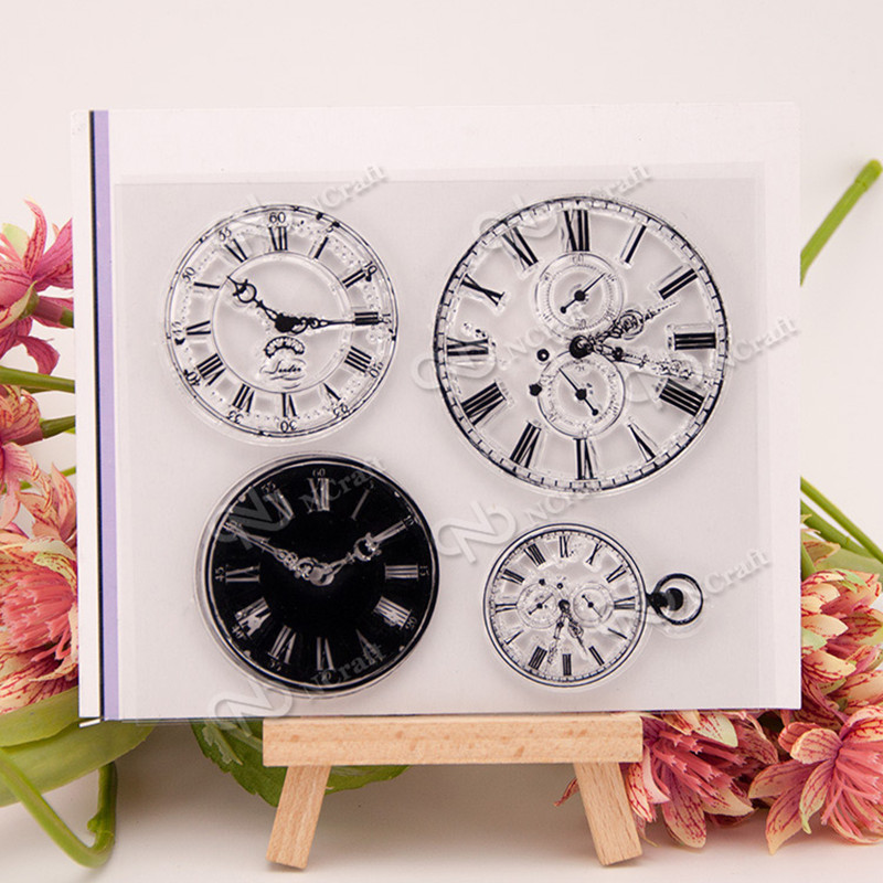 Clocks and watches Silicone Transparent Stamp Photo Cards Rubber Stamp DIY Clear Stamp Scrapbook Seal 12X10.5CM T0231 wyf1017 scrapbook diy photo album cards transparent silicone rubber clear stamp 11x16cm camera