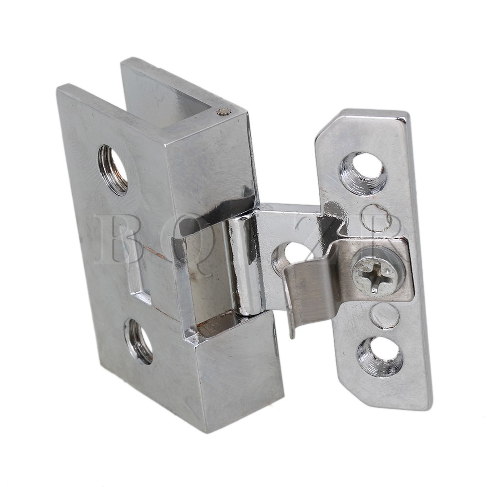 BQLZR Wall mount Stainless Steel Shower Door Cl& Glass Hinge Cl& Clip For 10mm-in Door Hinges from Home Improvement on Aliexpress.com | Alibaba Group  sc 1 st  AliExpress.com & BQLZR Wall mount Stainless Steel Shower Door Clamp Glass Hinge Clamp ...