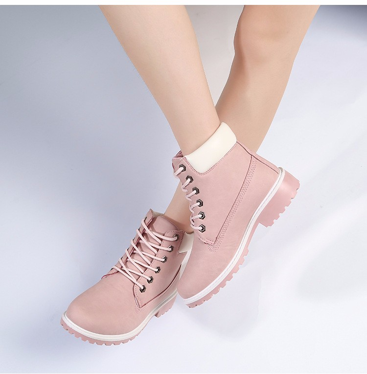 New Arrival Spring Autumn Boots Men PU Leather Unisex Style Fashion Male Work Shoes Lover Martin Boot 34
