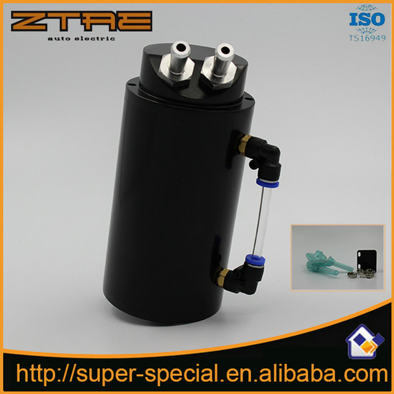 Universal Aluminum Alloy Reservoir Oil Catch Can Tank Color :red,blue,black,silver