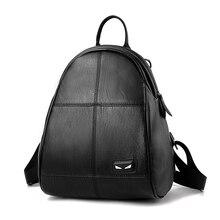 Женщины рюкзак высокое качество из искусственной кожи Mochila Escolar школьные сумки для подростков девочек топ-ручка Рюкзаки моды сумка