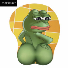 Sad Frog Butt 3D Mouse Pad Ergonomic with Wrist Support Anime Mousepad Laptop Computer Office