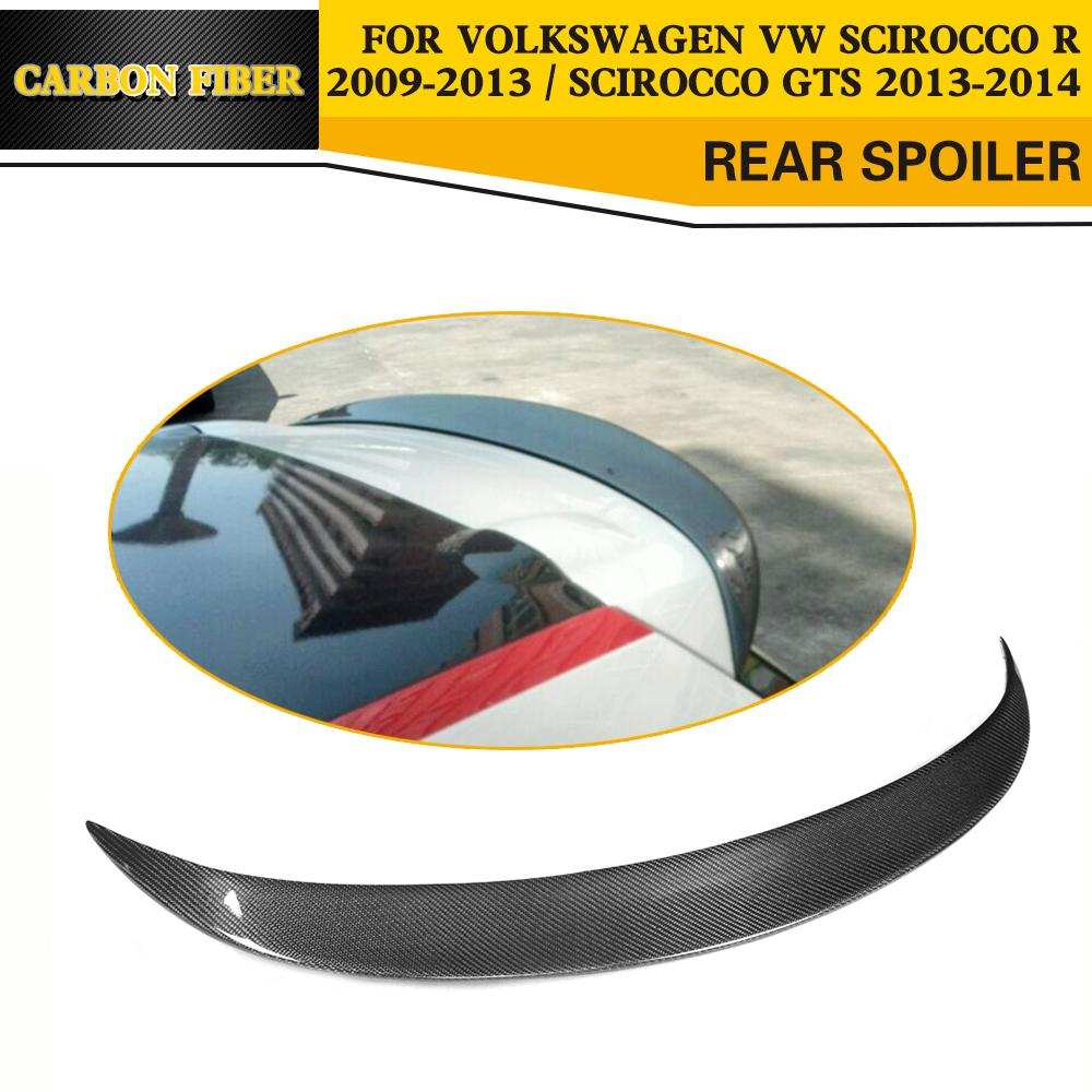 Car-Styling Carbon Fiber Rear Roof Spoiler Wing for Volkswagen VW Scirocco R 2009-2013 / Scirocco GTS 2013-2014 car styling carbon fiber auto rear wing spoiler lip for vw scirocco 2010 2012
