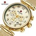 Top Marke BELOHNUNG frauen Mode Quarz Uhren Wasserdicht Casual Chronograph Damen Kleid Frau Geschenk Uhr Relogio Feminino Damenuhren Uhren -