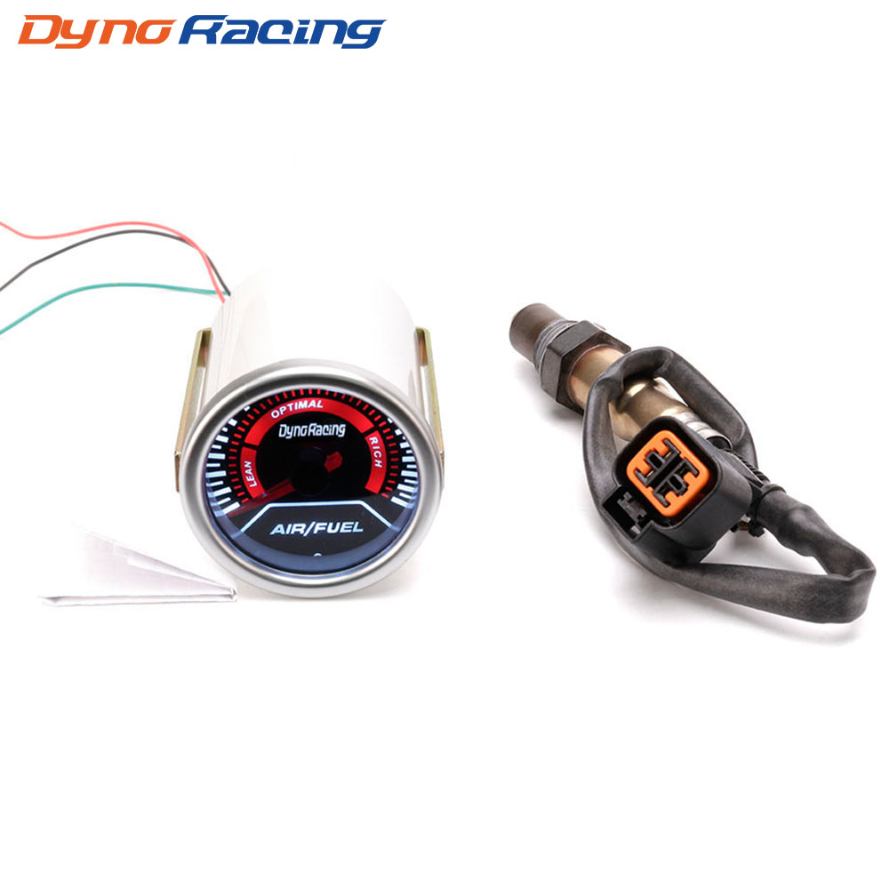 Dynoracing 52mm Car Auto Air Fuel Ratio Gauge Smoke Lens GENUINE Narrowband O2 Oxygen Sensor For