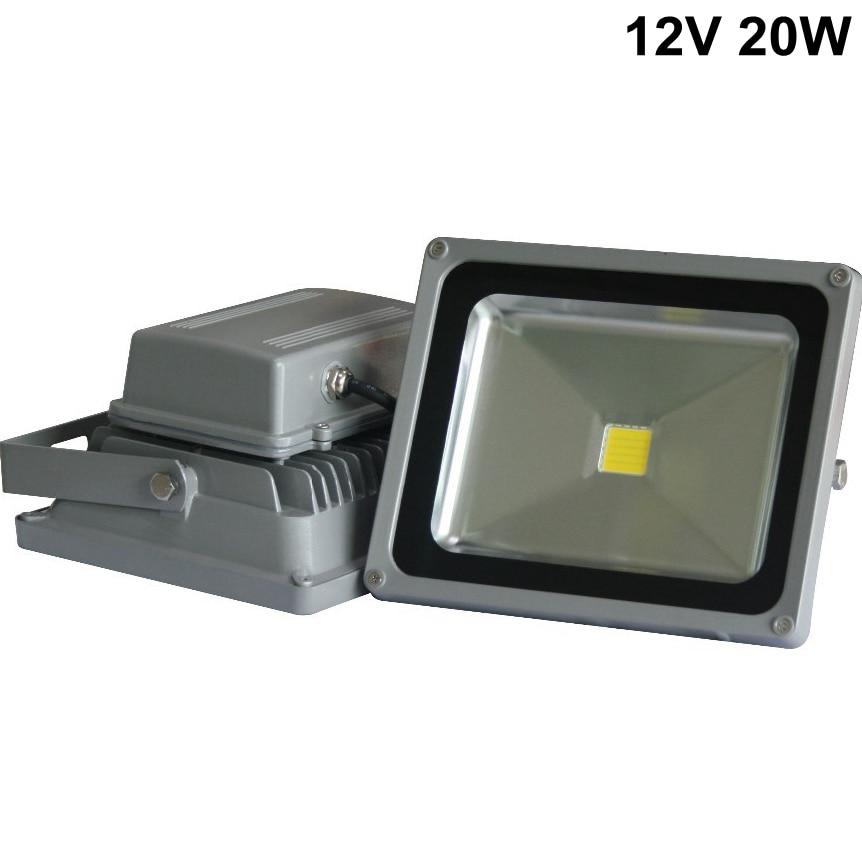 ФОТО Low voltage Outdoor floodlight 30W 12V/24V Input LED flood light for solar system for car waterproof IP65 LED light
