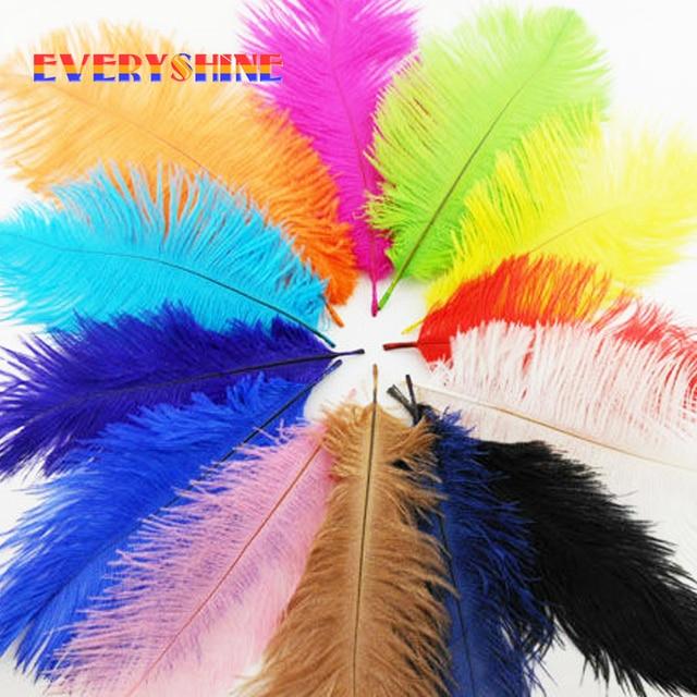 Wholesale Party Decorative 120pcs Dyed Colorful Ostrich Feather Elegant Wedding Decoration Centerpieces Feathers 15-20cm IF3