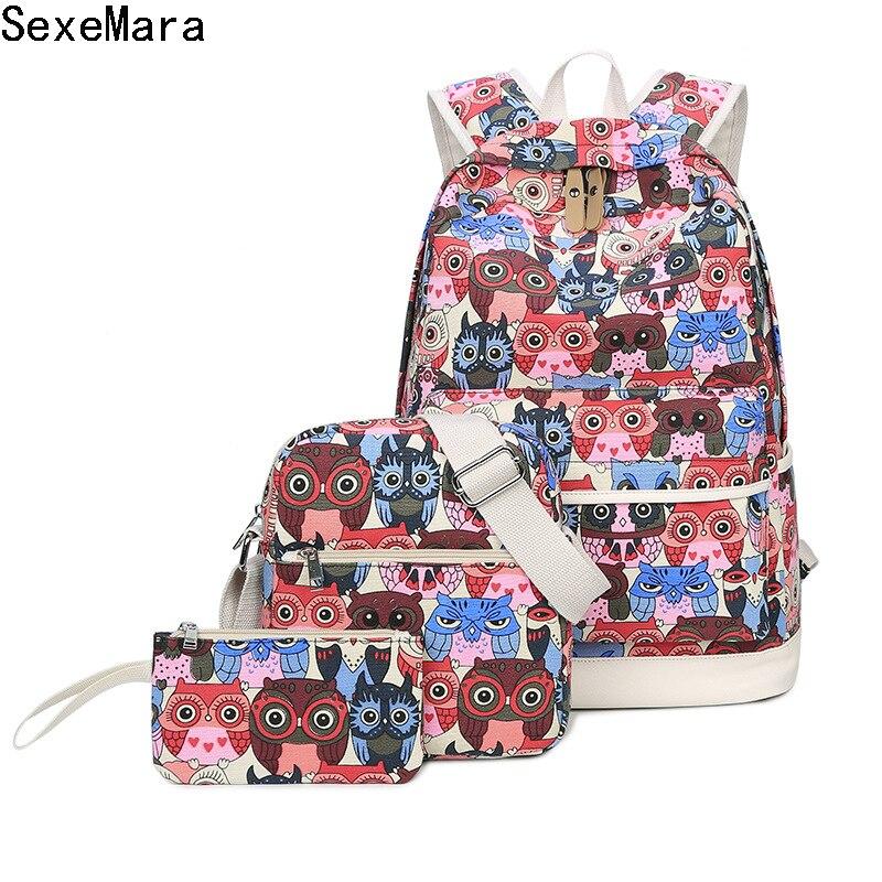 MIWIND nouveau sac à dos conçu impression collège étudiant sac d'école pour adolescent fille décontracté sac de voyage ordinateur portable sac à dos Mochila1321