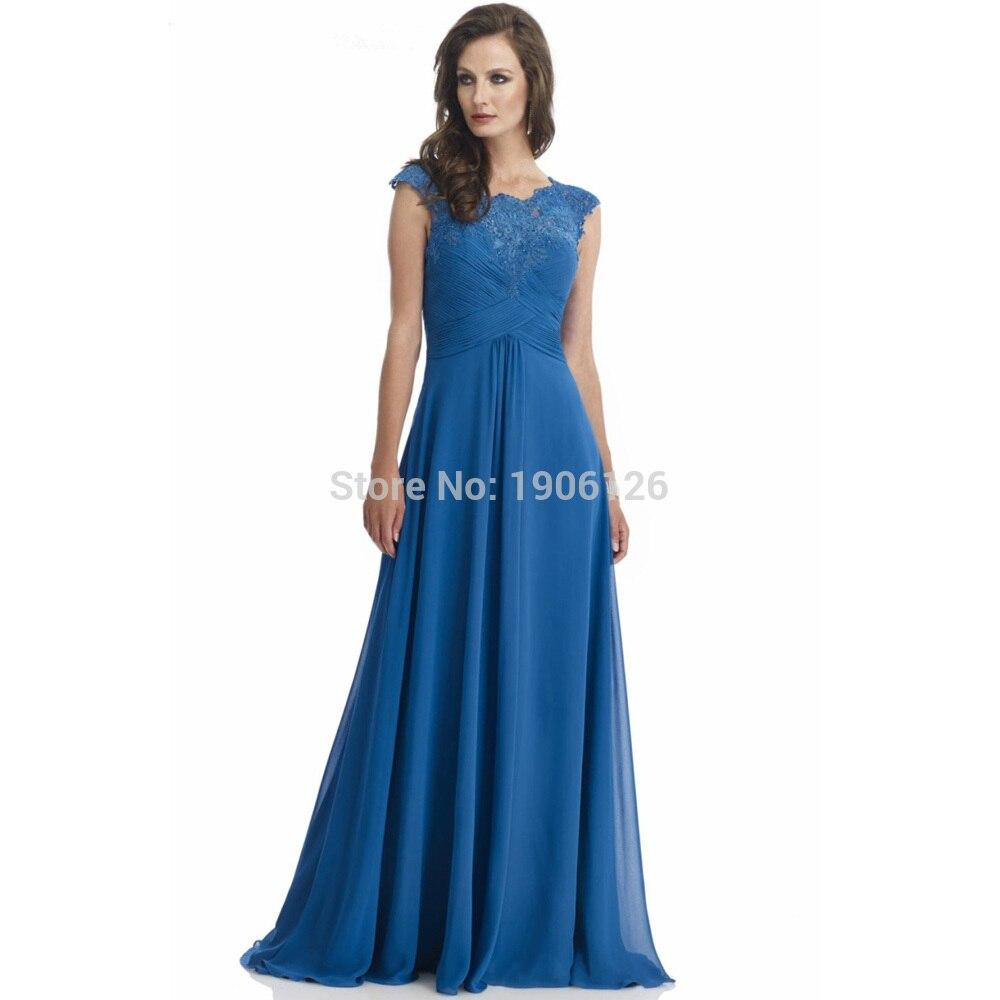 Neue Stil Blau Chiffon Hosen Anzug Hochzeit Lange Braut Mutter ...