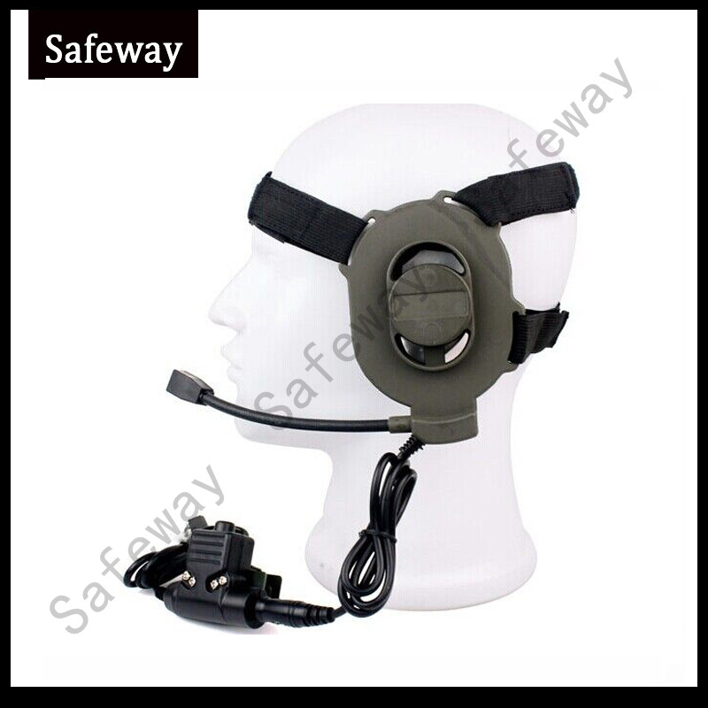 Z Tactical Bowman Elite II Headset With U94 Press-to-Talk PTT Tactical Earphone For Midland Two Pins Walkie Talkie