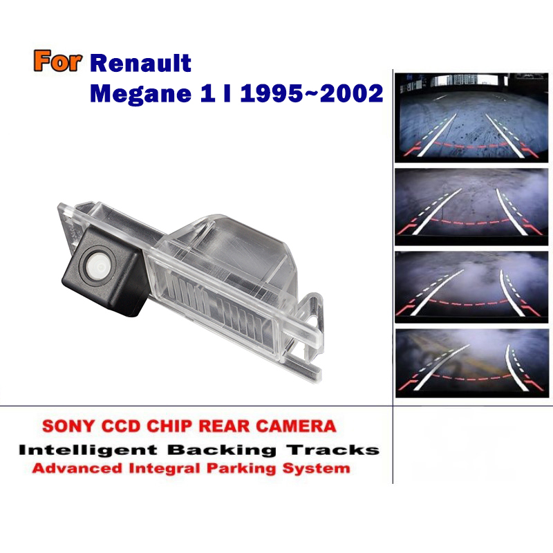 For Renault Megane 1 I 1995~2002 Smart Tracks Chip Camera / HD CCD Intelligent Dynamic Parking Car Rear View Camera for renault duster 2010 2014 smart tracks chip camera hd ccd intelligent dynamic parking car rear view camera