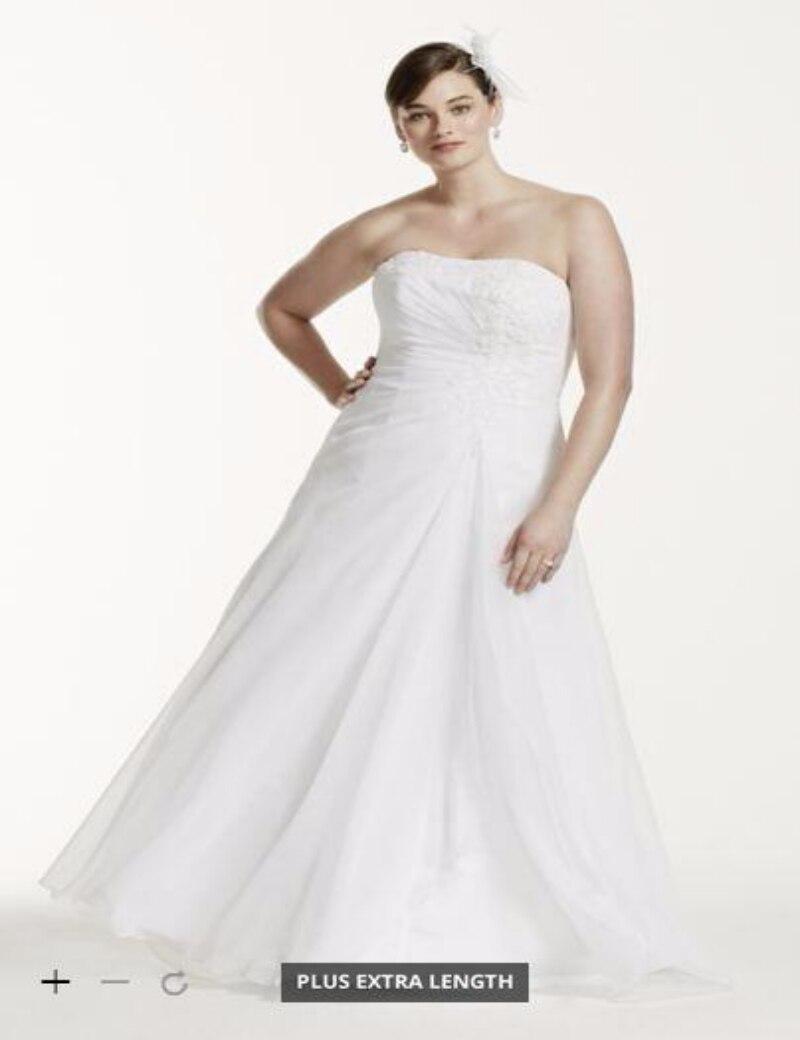 Online get cheap davids bridal wedding for Chiffon plus size wedding dresses