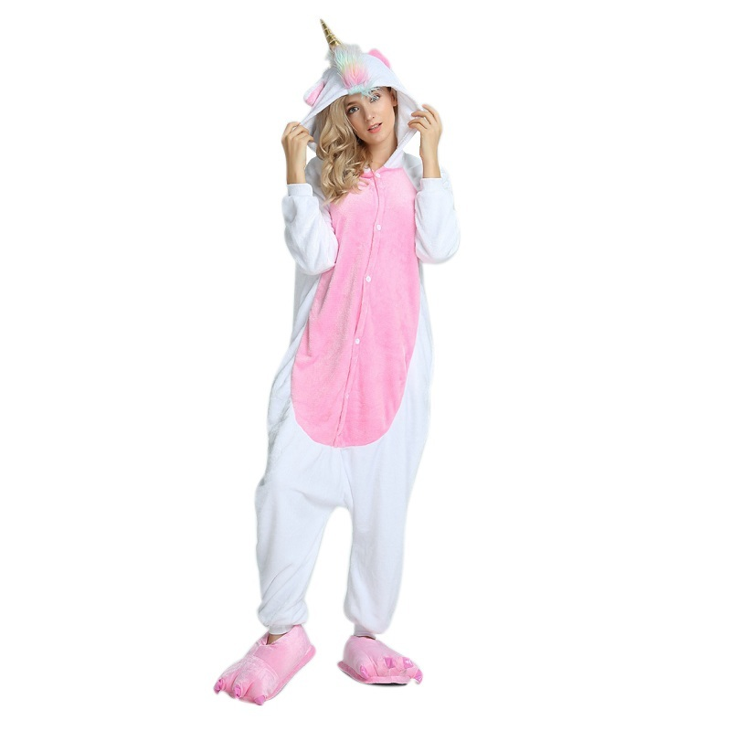 Kigurums Anime Unicorn Pajamas Hoodie Pyjamas Cosplay Costume Adult Onesie For Halloween Party traje de cosplay