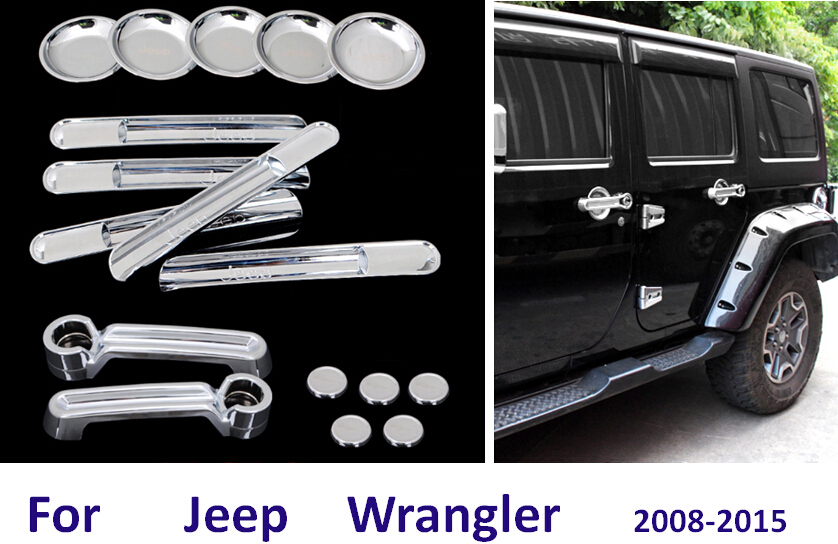 Exterior Accessories For Jeep Wrangler Out Side Door Handle Bar Wrist Bowl  Decorative Cover Cup Pad Sticker Trim Frame On Aliexpress.com | Alibaba  Group
