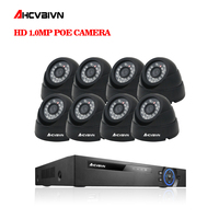2018 hot sale,Plug And Play 4CH NVR 48V POE CCTV Kit 1080P HD 48 IR Indoor Night Vision Fixed Dome POE IP Camera System