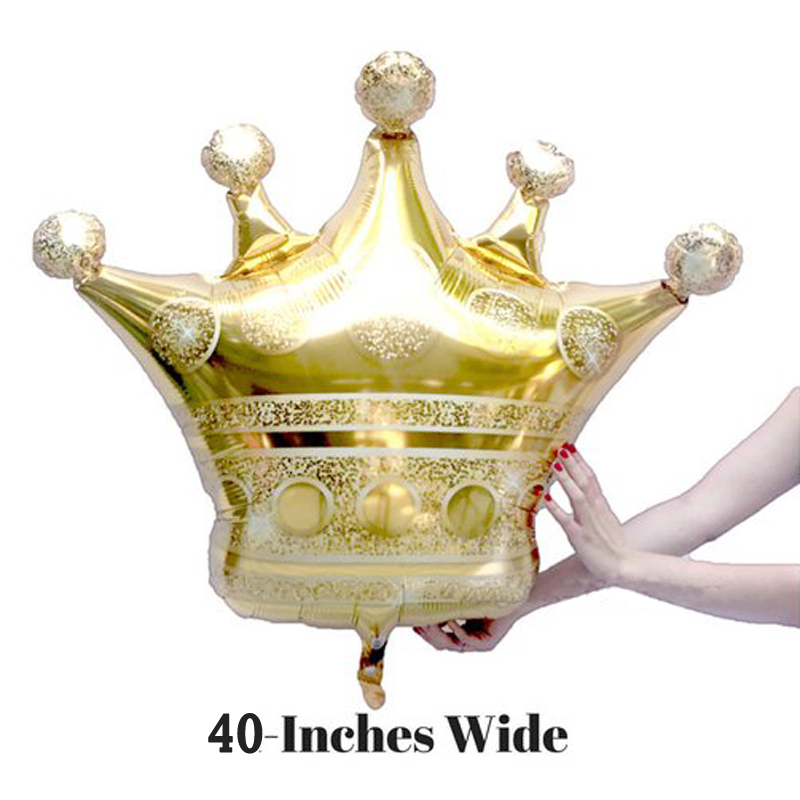 40inch Crown Kids Birthday Oh Baby Boy Girl Party Decorations Royal Prince Baby Shower Little Crown Birthday Ballon Kits