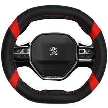 DERMAY Car Steering Wheel Cover Micro Fiber Leather Customized for peugeot 3008 4008 5008 5Colors dermay High Quality Accessorie недорого