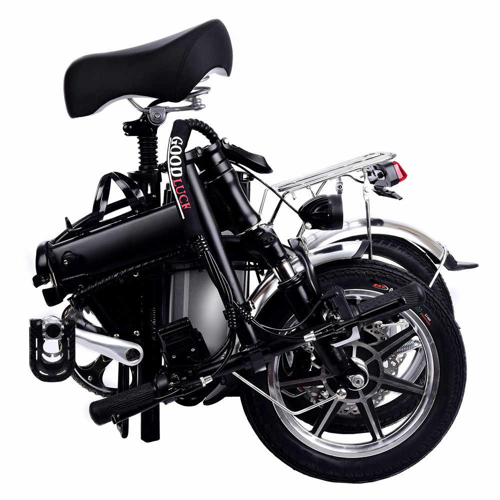 14 дюймовый аккумулятор электрический велосипед 48V10AH чистый Электрический выносливость черный