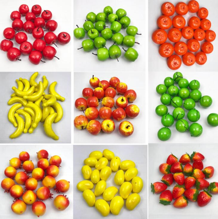 20 Pcs/Set  Fruit Vegetable Kitchen Artificial Fake Eggplant Home Decor Kitchen Toy For Girls Gift