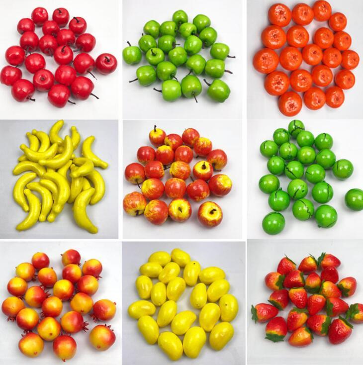 20 Pcs/Set  Fruit Vegetable Kitchen Artificial Fake Eggplant Home Decor Kitchen Toy For Girls Gift