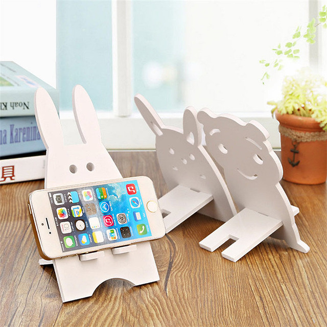 Cartoon Animal Storage Holders Wooden Multifunction Phone Holder Home Office Table Desk Holder Racks Storage Organization