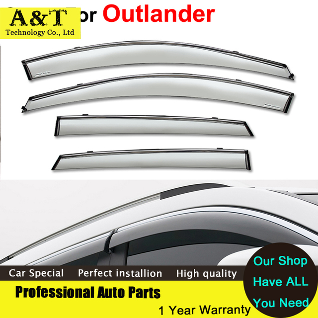 car styling Window Visor For Mitsubishi Outlander 2014 Rain PC Rain Shield Stickers Covers Car - Styling Awnings Shelters Car Ac