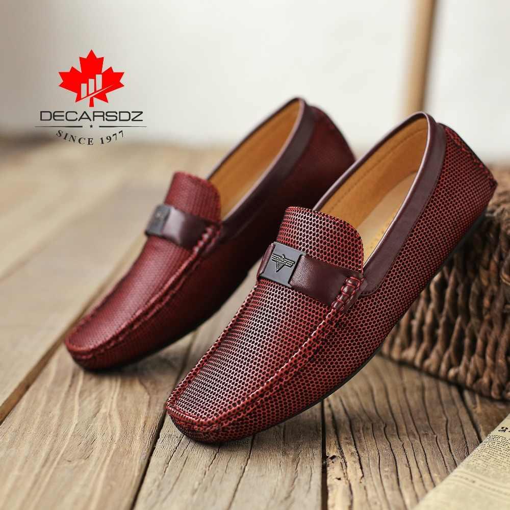 Erkekler loafer ayakkabılar 2020 sonbahar moda bot ayakkabı erkek marka mokasen erkek ayakkabı erkekler Slip-On rahat sürücü gündelik erkek ayakkabısı