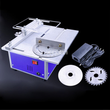 DIY Multi-function Miniature Table Saw DC4d Woodworking Sawing Saws Cutting Model Saw Cutting Machine DC 12v-24v 1.5A  1-10mm