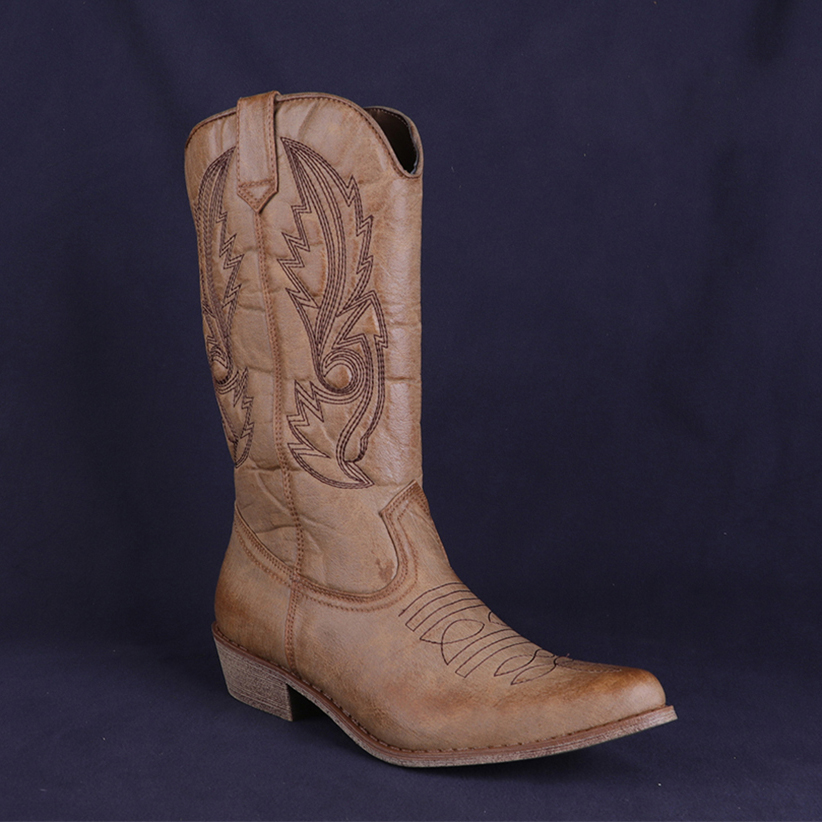 58b70f0278 Γυναικεία παπούτσια Classic Western Cowboy Boots for Women Pointy Toe  Leather Cowgirl Boots Square Heels Shoes Woman Knee High Boots