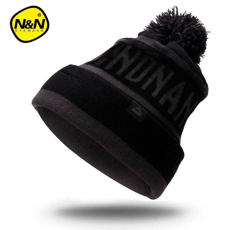 """NANDN rudens žieminės skrybėlės unisex megzti """"Skullies"""" - Sportinė apranga ir aksesuarai - Nuotrauka 6"""