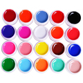 20Pcs/lot Pure Solid Color UV Gel Nail Art Tips DIY Decoration For Nail Manicure Glitter Gel Nail Polish Extension Tips Builder