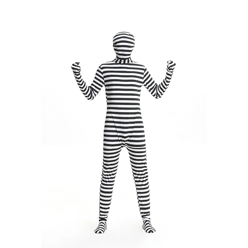 2018 new muscle man quality stage performance clothing invisible man suit jumpsuit Halloween male adult role playing prisoner ro