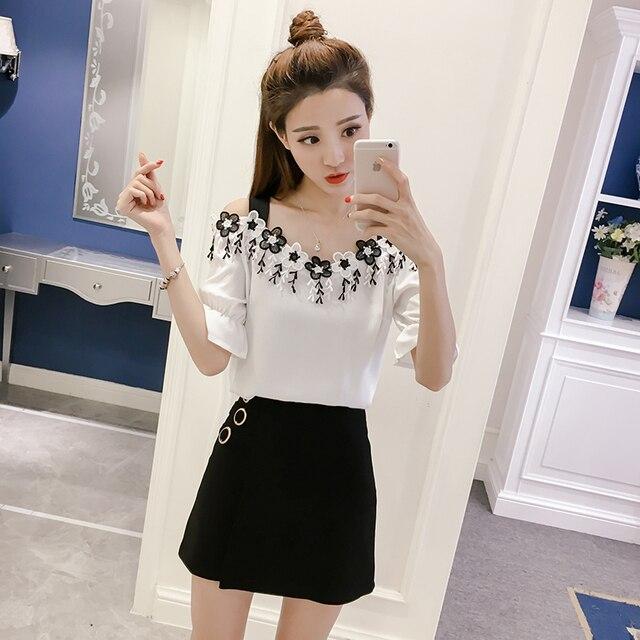 fdae8023f Missoov diseñador camisas verano mujeres moda blusas borla tops Slash  cuello de hombro camisetas blusas sexy