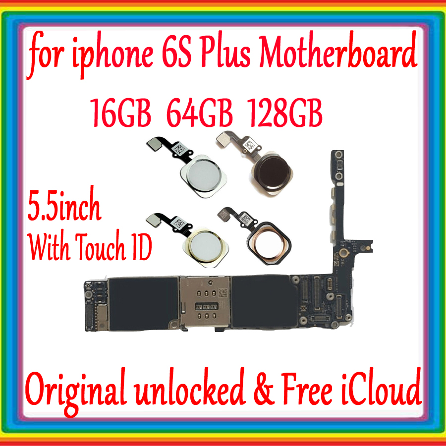 for iPhone 6S Plus Motherboard Without Touch ID / With Touch ID,Original unlockedfor iphone 6s plus Logic board 16gb /64gb /128gfor iPhone 6S Plus Motherboard Without Touch ID / With Touch ID,Original unlockedfor iphone 6s plus Logic board 16gb /64gb /128g