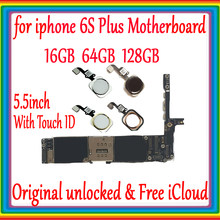 Für iphone 6s plus Motherboard Ohne Touch ID/Mit Touch ID, original unlockedfor iphone 6s plus Logic board 16 gb/64 gb/128g(China)