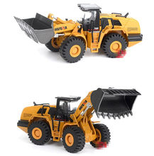 high simulation alloy engineering vehicle model, 1: 50 Loader shovel truck toys, metal castings, toy vehicles, free shipping(China)