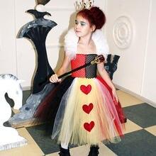 Детский костюм для косплея королевы сердец на Хэллоуин милая
