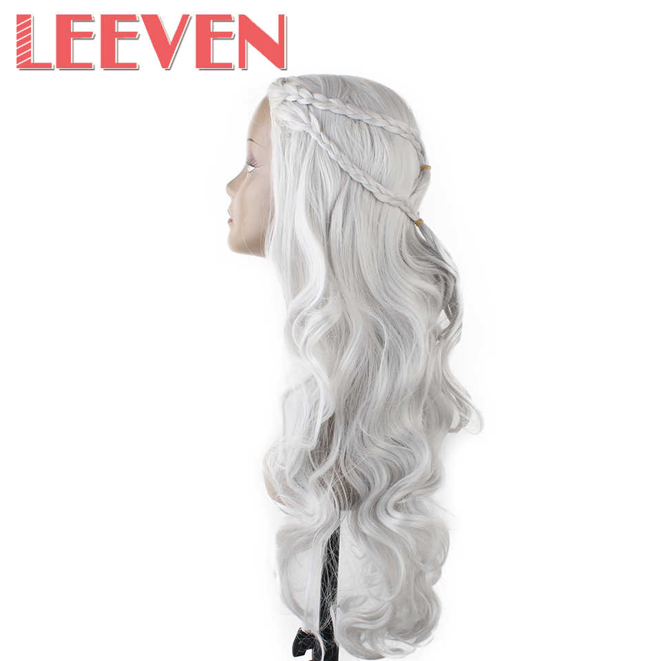 Leeven Synthetic hair long wavy Cosplay Wigs for  Women Costume Carnival Halloween Party  High Temperature Fiber Heat Resistant