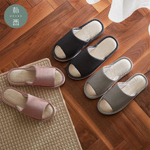 POSEE Cotton Linen slippers fashion Home Slippers Open Toe Indoor Floor Non-Slippers Comfortable women House slippers Shoes 3502(China)