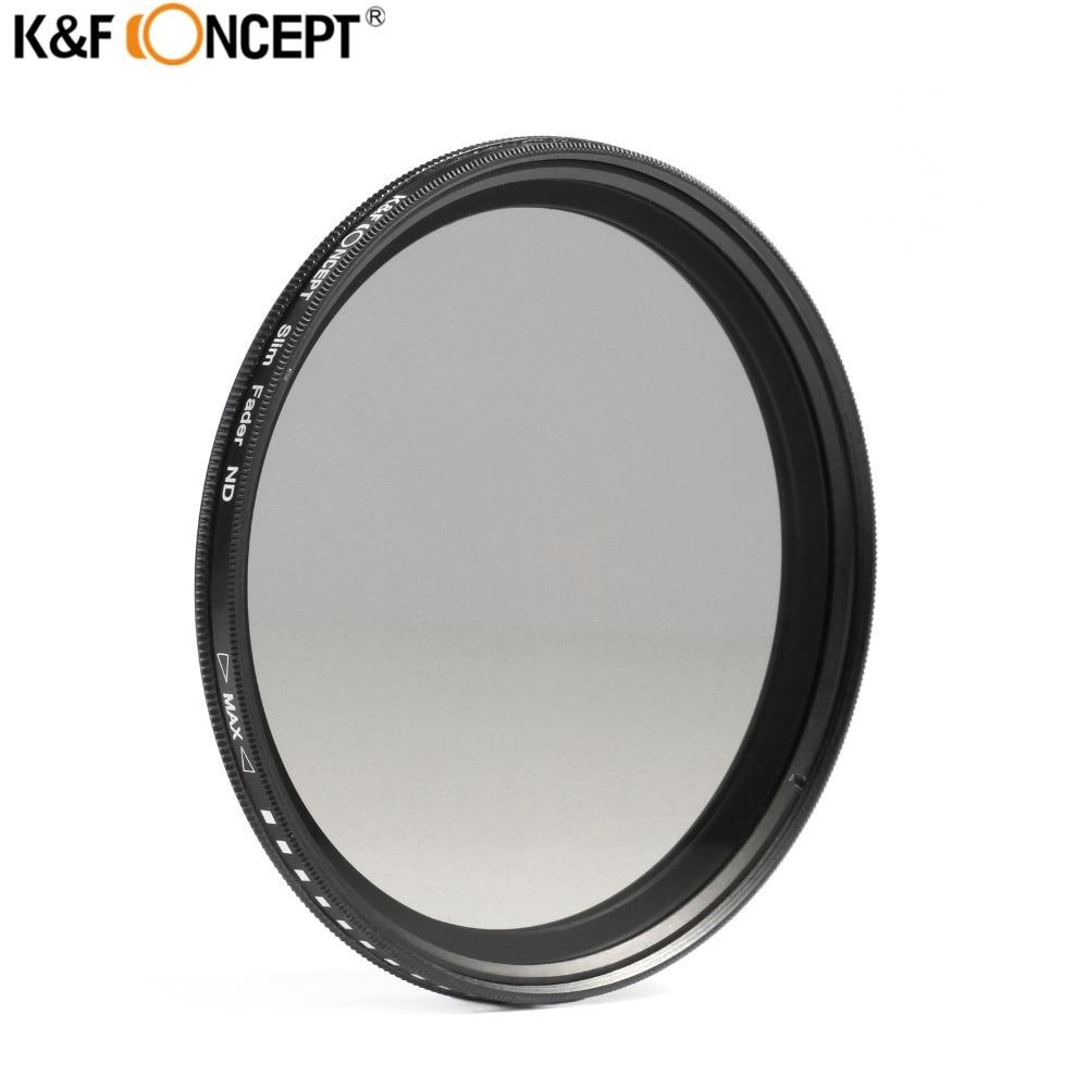 K&F CONCEPT 67mm Fader ND Filter Adjustable ND2 To ND400 Neutral Density For Canon 7D 50D D3300 750D Nikon D90 D3100 D3200 D7200