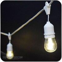 Mejor 10 m 32 8ft E27 de caída de luces de festón blanco decoración de fiesta al