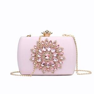 Image 5 - Nyhed bolsa de noite feminina casamento embraiagens diamante bolsa para senhora cadeias pequena bolsa