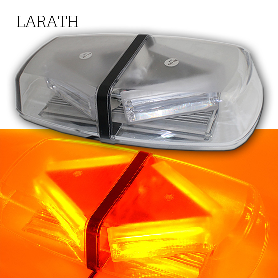Car-styling LED COB Warning Light Car Roof Flashing Strobe Car Warning Light Bar Police Light Truck Beacon Emergency Signal Lamp цена