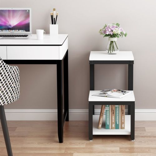 3 Tier End Table With Storage Side Sofa Shelves Small