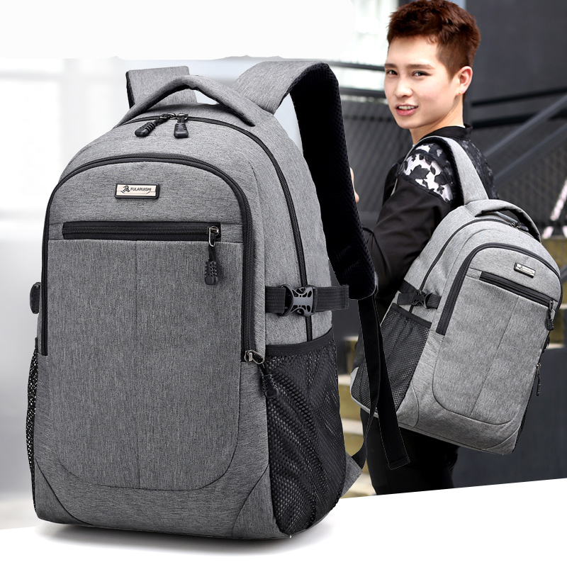 2017 External USB Charge Laptop Backpack Men Women Bolsa Mochila For 15 Inch Notebook Computer Rucksack School Bag Backpack NJ01 good quality bride tribe print fold over elastic 10 yards lot 5 8 aqua foe ribbon webbing for hair tie hair accessories