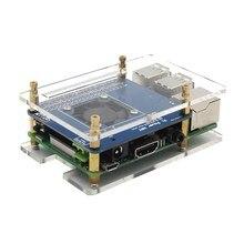 Программируемые Контроль температуры вентилятор и Мощность Плата расширения акриловый чехол медный теплоотвод комплект для Raspberry Pi 3/2B
