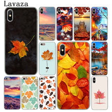 Lavaza Herfst fall Maple Bladeren landschap Hard Telefoon Case voor iPhone XR X XS 11 Pro Max 10 7 8 6 6S 5 5S SE 4 4S Cover(China)