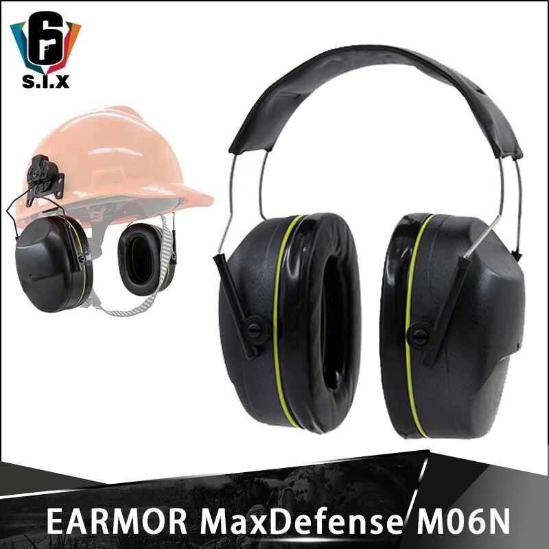 OPSMEN Earmor Noise Reduction Headphones MaxDefense M06 Low Profile Passive Earmuffs For Sport Shooting Headset NRR24 20 22